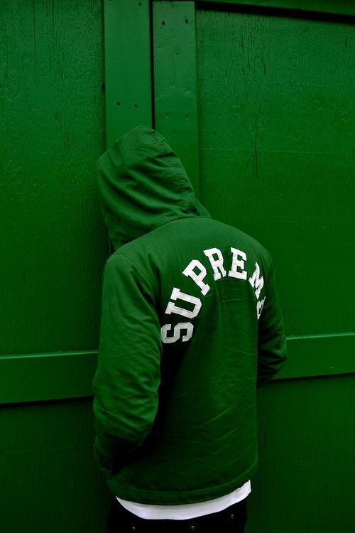 Green Supreme #streetwear #fashion
