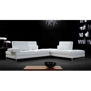 Tango Modern White Leather Sectional Sofa