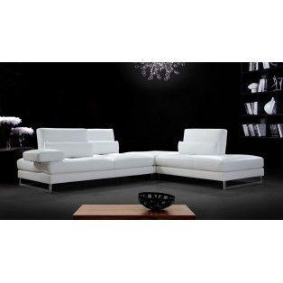 Tango Modern White Leather Sectional Sofa