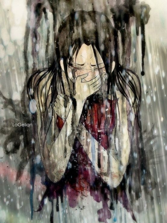 The rain splashed around her but Annie hardly noticed. She didn't notice anything other then the grief that was clawing at her chest. She choked back a sob but it was no use, they kept coming. How had this happened?