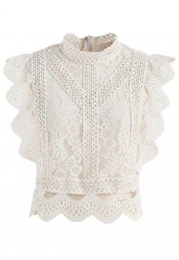Your Sassy Start Sleeveless Crochet Lace Top In Beige Crochet Lace Top Crochet Lace Shirt Lace Tops