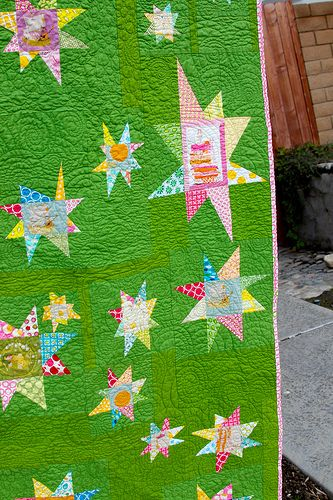 quilted stars | Flickr - Photo Sharing! .... this would be wonderful in a child's room! so colorful!