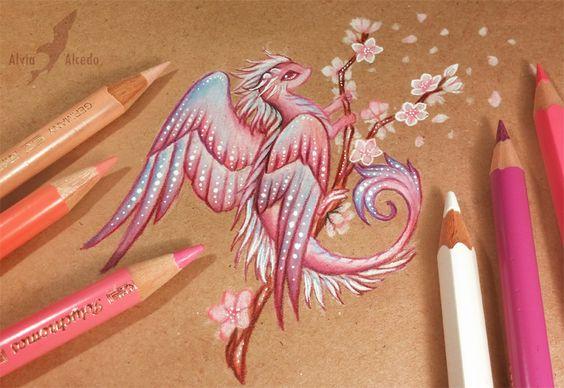 Sakura dragon by AlviaAlcedo.deviantart.com on @DeviantArt