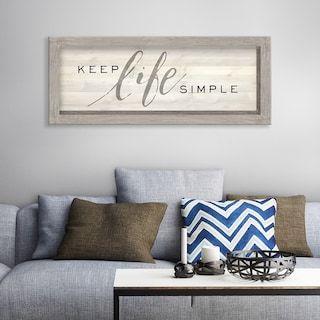 Artissimo Keep Life Simple Rustic Wall Decor Kohls Living Room Decor Rustic Simple Wall Decor Chic Home Decor