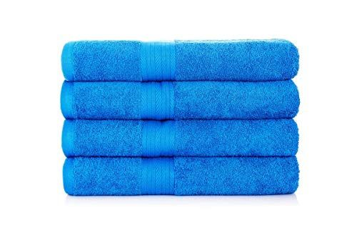 Ebay Sponsored Ample Decor Premium 100 Cotton French Blue Bath Towel Set 4 Pack 30 X 54 Inch Blue Bath Towels Tea Towel Set Fluffy Bath Towels