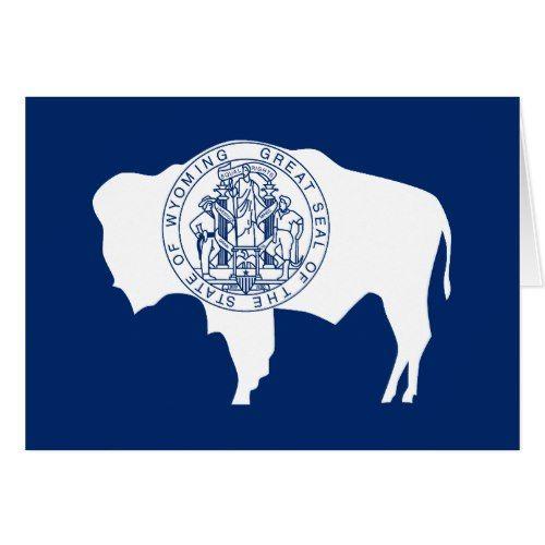 Patriotic Wyoming State Flag Zazzle Com State Flags Wyoming State Patriotic