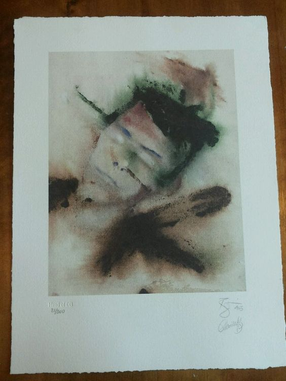 Head of DB, David Bowie self portrait signed lithograph 81/300, Outside cover