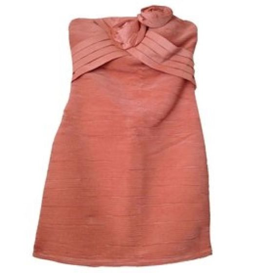 Romeo & Juliet Couture Peach Cocktail Dress NWOT Romeo & Juliet Couture Dresses
