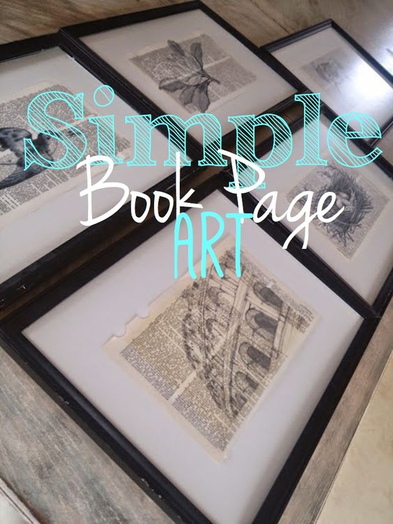 Simple, but Gorgeous Book Page Art