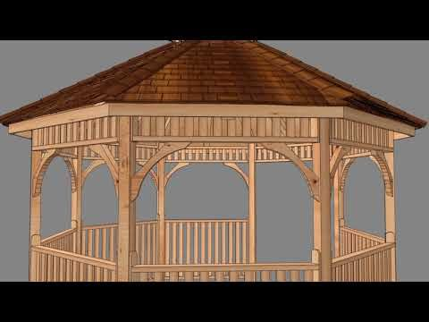 Gazebo 10ft Octagon Assembly Sequence From Outdoor Living Today 2016 Youtube Gazebo Pergola Plans Roofs Gazebo Plans