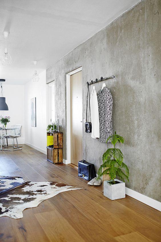 Paredes de cemento. Actualidad nórdica y paredes frias   Decorar tu casa es facilisimo.com