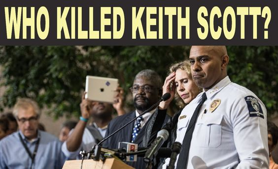 Keith Scott executed in Norh Carolina by a white face not a black face. ...