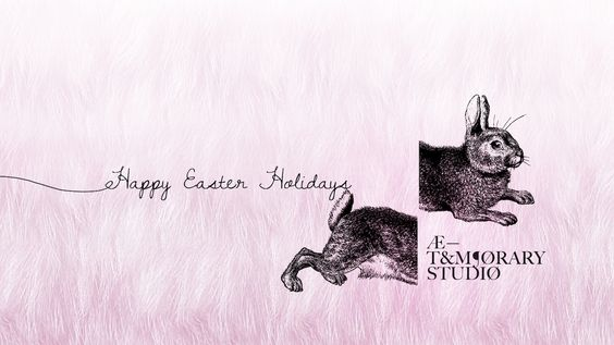 Atemporary Easter card by Belinda De Vito