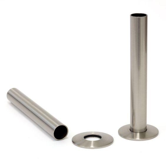 Satin Nickel Shrouds & Base Plates Radiator Shroud | Castrads.com