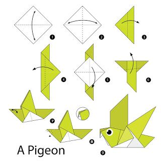 صور مطويات 2021 اشكال مطويات بالورق الملون Origami Patterns Origami Bird Easy Origami Art