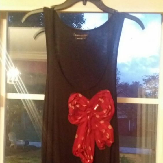 Tank Knit tank with decorative bow BCBG Tops Tank Tops