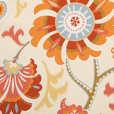 Siren Song Fabric is a breathable, spun polyester fabric from Waverly's Sun N Shade Collection. This durable outdoor fabric collection offers a wide range of colors and designs to coordinate with any home décor.