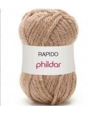 Phildar Rapido beige 10 bollen breiwol breigaren