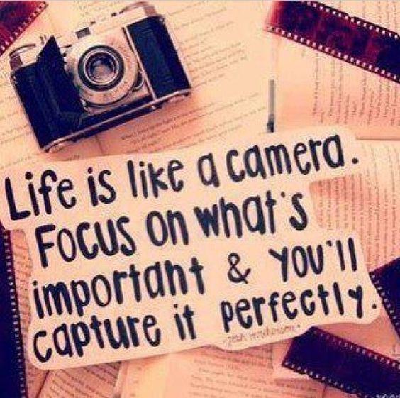 "Inspirational STENCIL **Life is like a Camera** 12""x24"