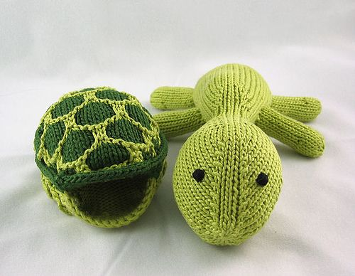 Turtles, Knits and Free pattern on Pinterest