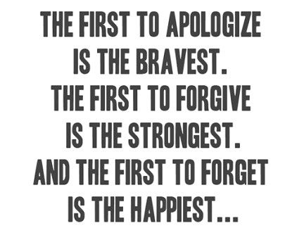 I apologised and I have forgiven but I doubt I will forget completely. Look forward to the day I genuinely don't remember.