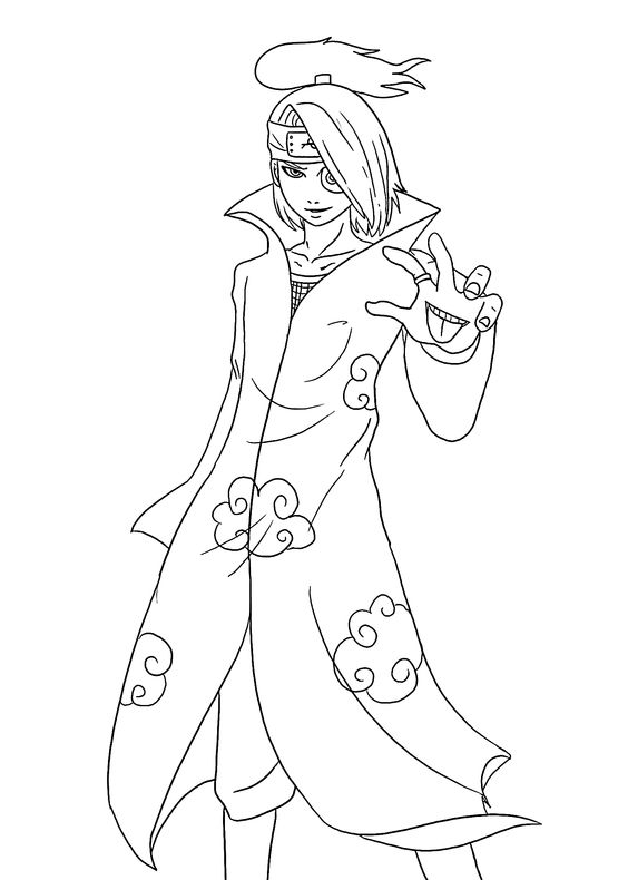 Naruto Characters Anime Coloring Pages For Kids Printable Anime Character Coloring Pages