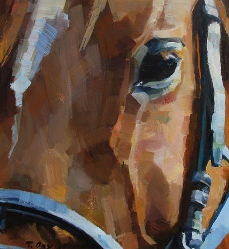 "Original Fine Art For Sale: ""Bridled"" - Original Fine Art For Sale - © Taryn Day"