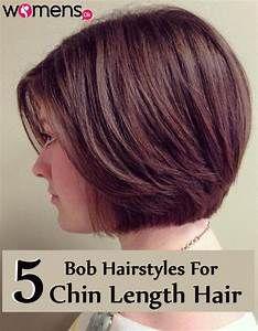5 Bob Hairstyles For Chin Length Hair Womensok Com Chin Length Hair Hair Lengths Chin Length Haircuts