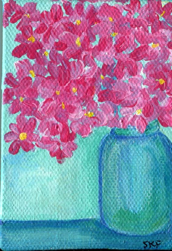 Mini Canvas Mothers Day Painting