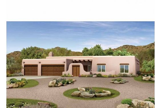 Adobe house plans hwepl00902 arquitectura planos for Adobe style manufactured homes