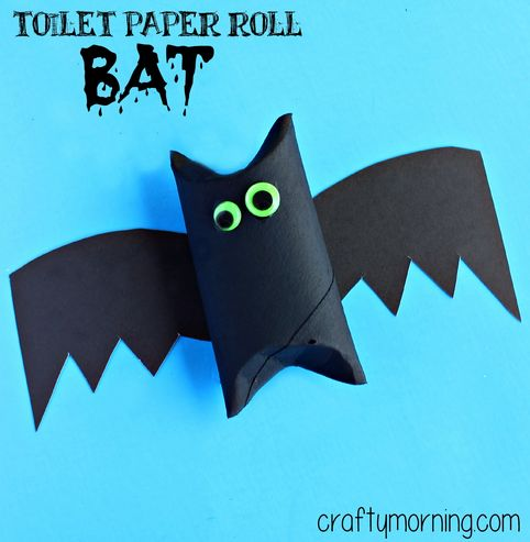 Learn how to make a toilet paper roll bat craft for kids! It's a fun Halloween art project to make that is very cheap and frugal to do.