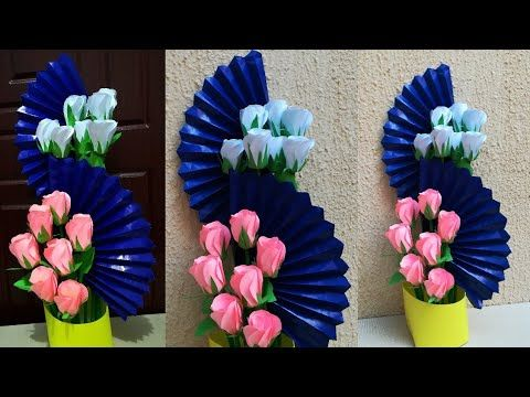 How To Make Easy Paper Flower Wall Hanging Decoration | DIY | Easy ... | 360x480