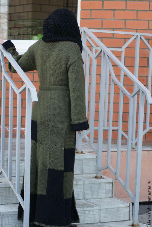 Купить Пальто вязаное  женское  Chess Queen - пальто, пальто женское, пальто вязаное, спицами