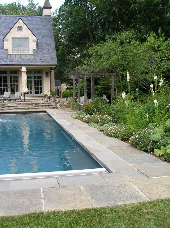 pool landscaping borders edging design pictures remodel
