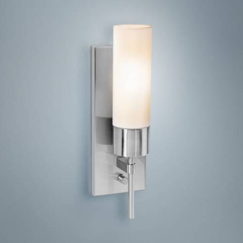 Iron 14 1 2 High Brushed Steel Wall Sconce U0400 Lamps Plus Sconces Wall Sconces Steel Wall