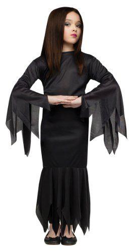 Girls Morticia Addams Family Halloween Costume « Clothing Impulse