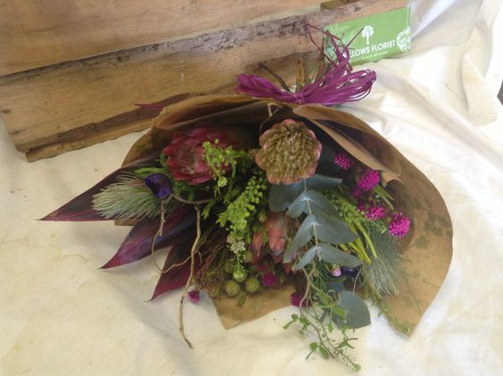 Rustic South African protia bouquet