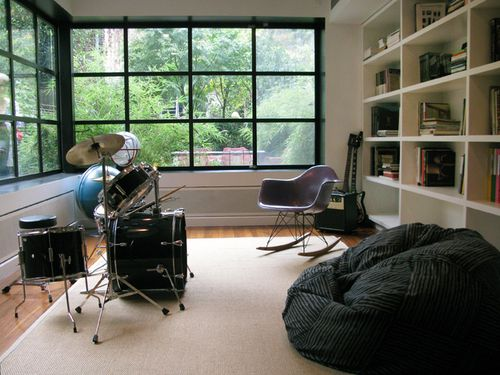 Essential in any future home...a music room! I want a place where I can just leave my instruments out and not have to worry about the pets getting to them, and their beauty can be displayed as well as having a place I can play and be left alone!