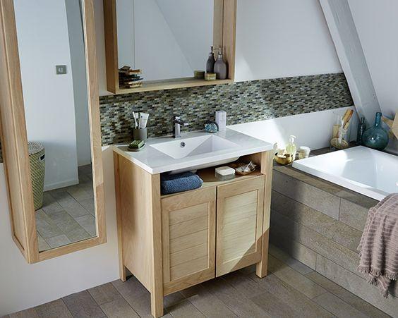 Grande salle de bain familiale massa castorama salle de bain pinterest - Armoire salle de bain castorama ...