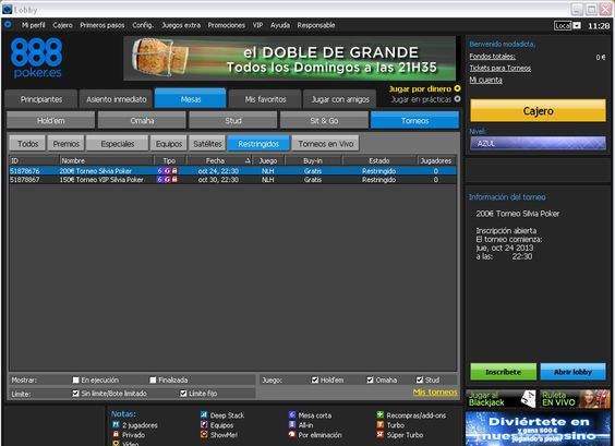 Vuelven los torneos de poker a nuestro portal web Poker.com.es, ¡no dejéis pasar la oportunidad de jugar un freeroll totalmente gratuito! ¡Y con premios!