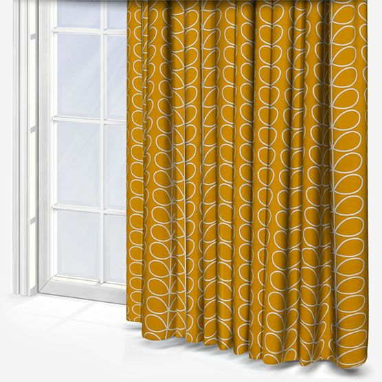 Bold Bright Orla Kiely Curtains A Trendy Shade Of Mustard Visit Blinds Direct To Explore Our Collection Of Bold Window Dressings And Interio Orla Kiely Curtains Interior Curtains