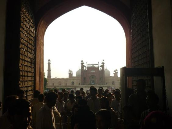 View of Badshahi Mosque inside from Lahore Fort.