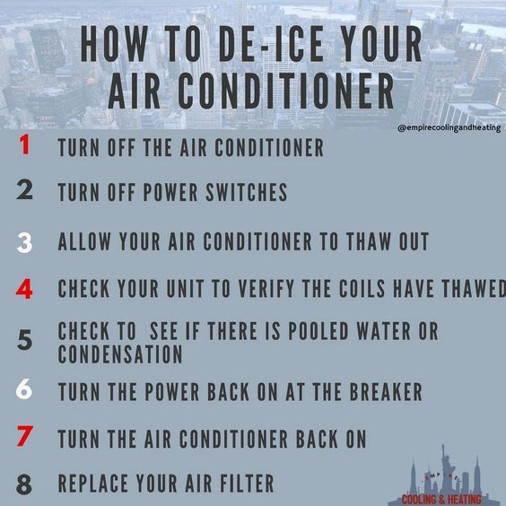 How To De Ice Your Air Conditioner Infographic Airconditioner