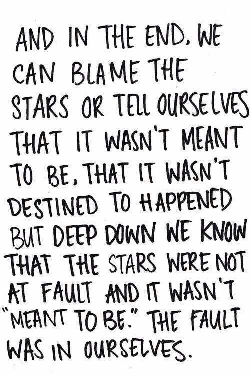 The fault in our stars quote