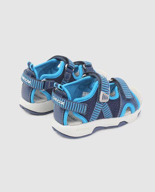 Geox Sandalias De Bebé Niño Azules Con Velcro En 2020 Sandalias Para Bebe Niño Bebé Sandalias