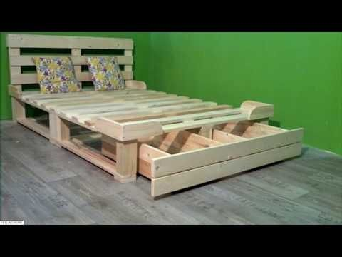 Palletfurniture Youtube In 2020 Wooden Pallet Beds Pallet Platform Bed Storage Furniture Bedroom