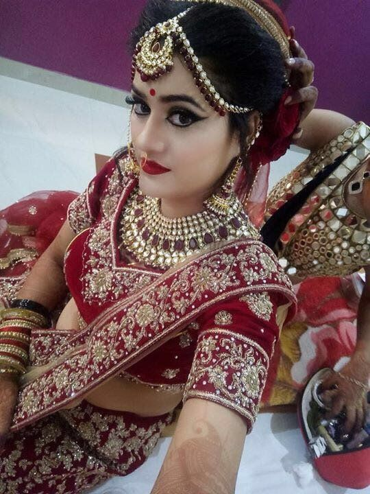 Gorgeous Bride Portfolio Beauty Island Bridal Makeup Artists In In 2020 Indian Bridal Fashion Bridal Bridal Lehenga Red