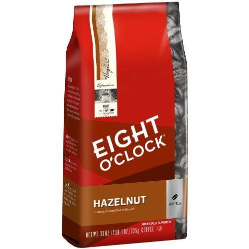 Eight O'Clock Hazelnut Whole Bean Coffee, 33-Ounce Bag - http://hotcoffeepods.com/eight-oclock-hazelnut-whole-bean-coffee-33-ounce-bag/