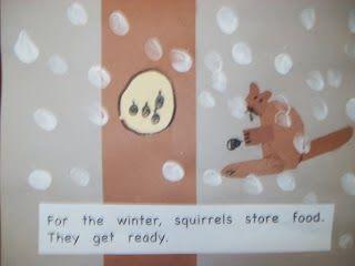 Maro's kleuterschool: Boekje voor de winterslaap gemaakt door kinderen!