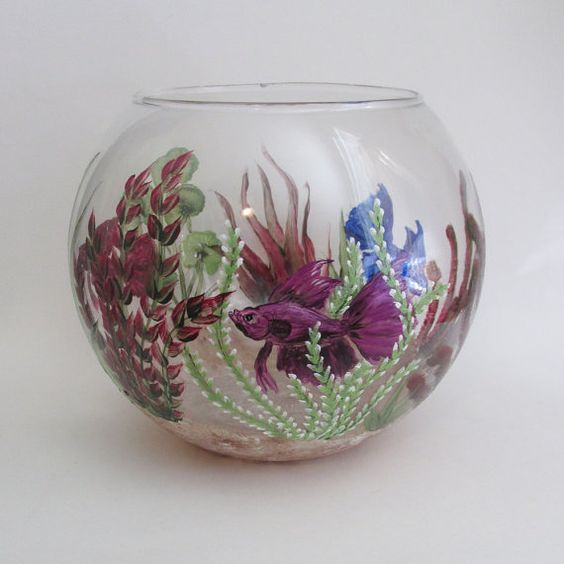 Pinterest the world s catalog of ideas for Painted glass fish